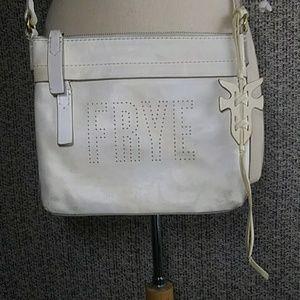 Frye Distressed White Crossbody Handbag